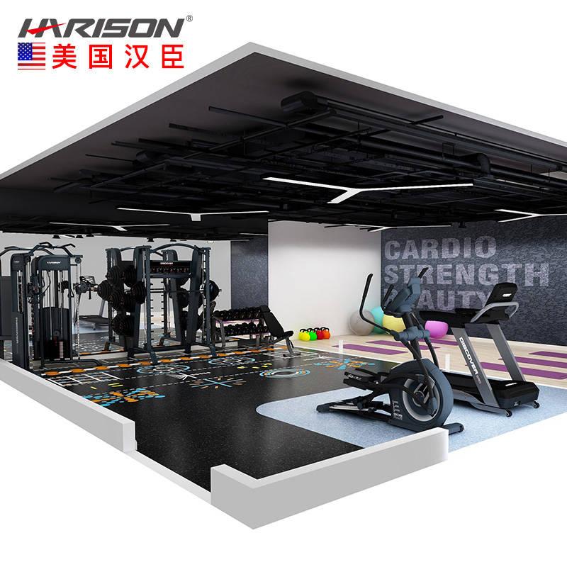 80平米健身房配置
